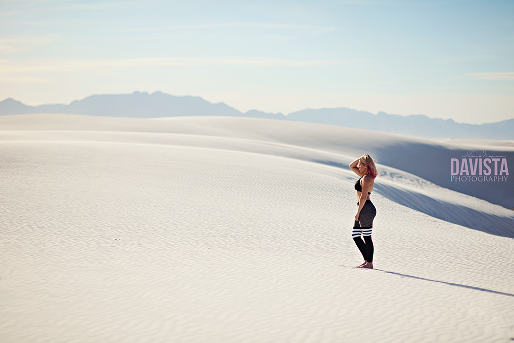 New Mexico fitness photography at white sands
