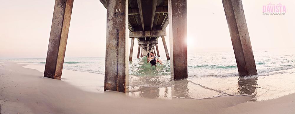 okaloasa beach engagement photoshoot