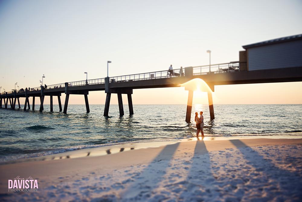 sunset engagement photos on the beach
