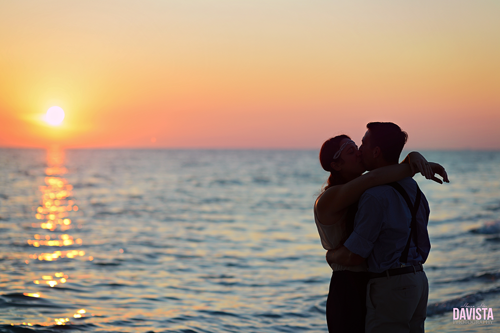 destin florida sunset engagement