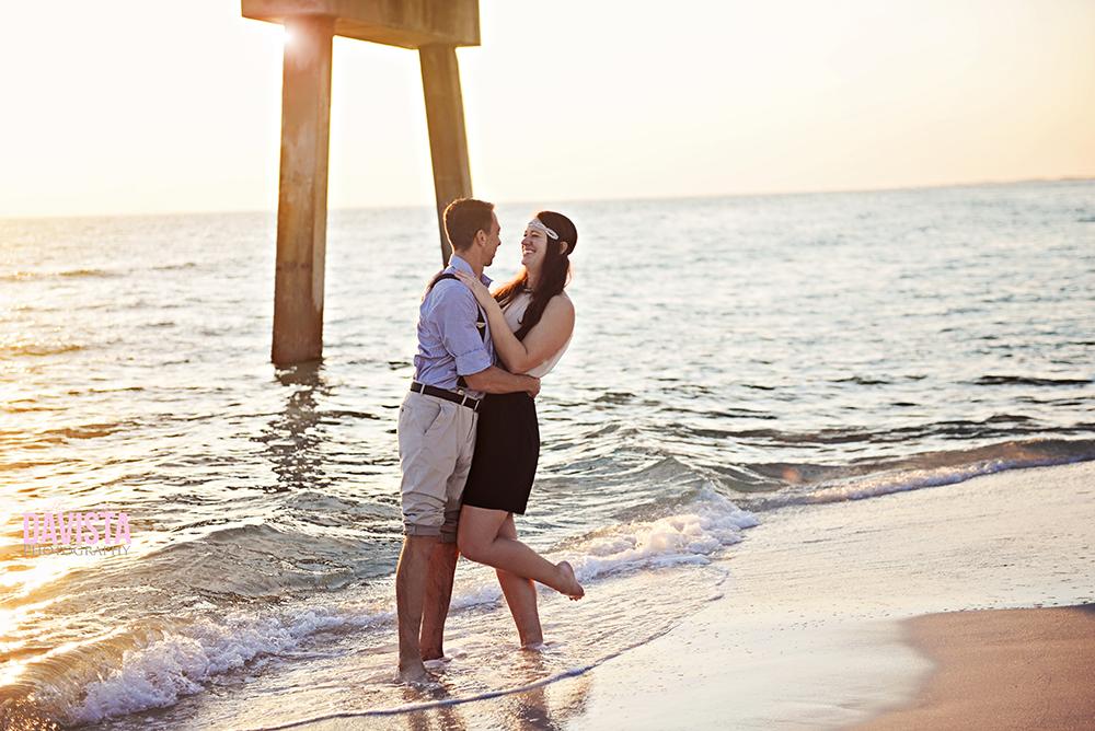 beautiful engagement photos at sunset Destin Florida