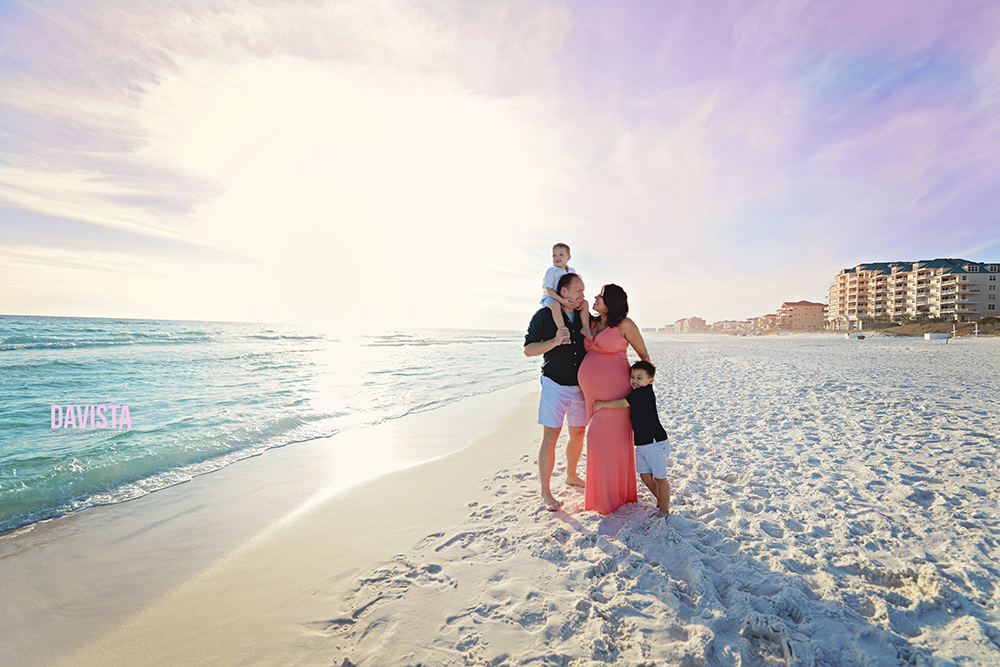 Panama City beach family photoshoot