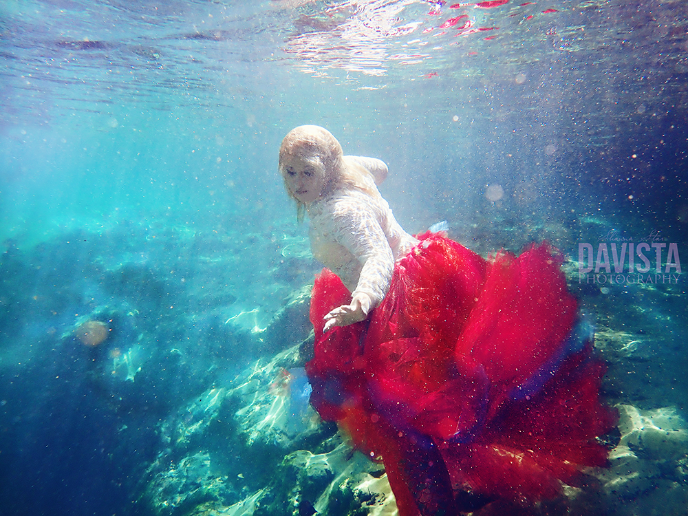 florida underwater photoshoot tulle dress