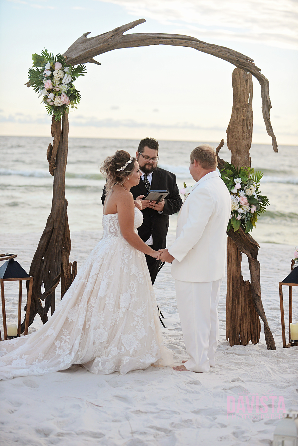 emerald coast wedding on the beach