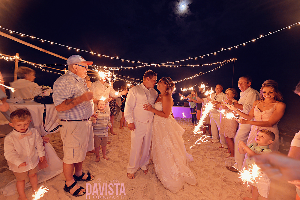 Panama City beach wedding- sparklers