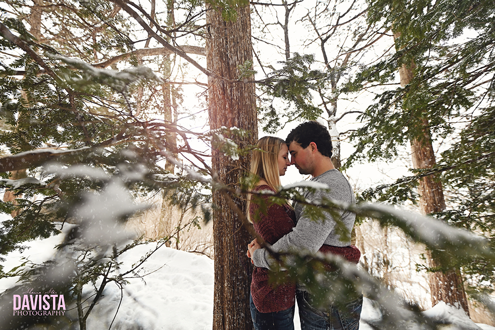 beautiful winter couples session