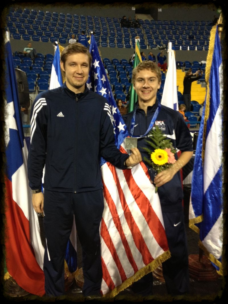 Coach Alex Fortunatov & Zack at the FIE Pan American Zonal CHampionships