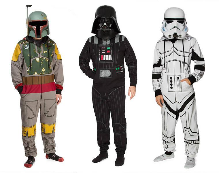 Boba Fett, Darth Vader and Storm Trooper Kigurumi from Think Geek