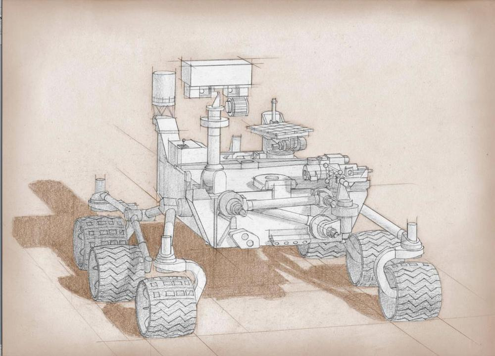NASA sketch of the next proposed Mars Rover