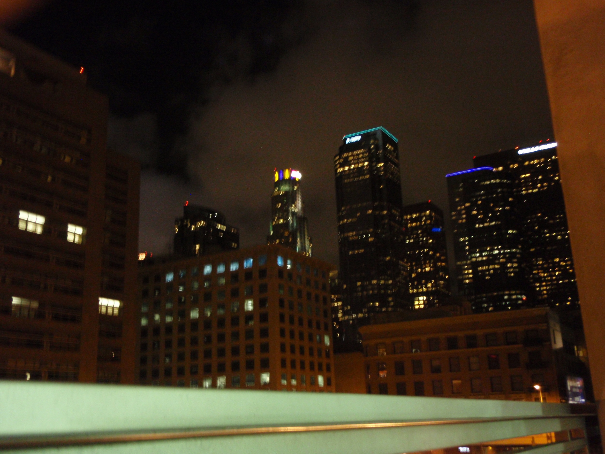 View from the rooftop - US Bank has Laker colors shining bright