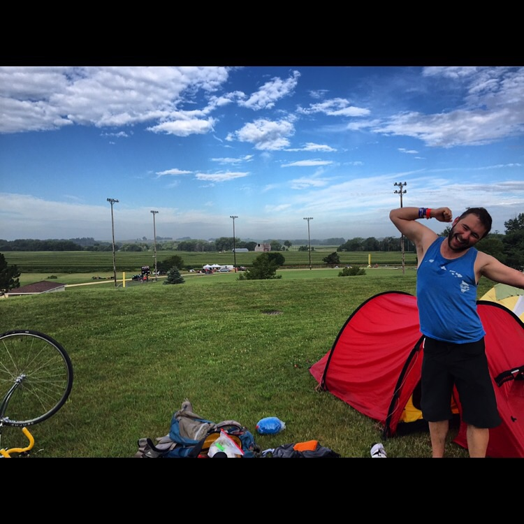 Shout out to our main man Nikolai here (follow his Instagram for another hilarious angle on the trip so far, @zagrobot) - he's our cycling coach, NUUN dealer (electrolyte water tablet), and chief accent officer. An awesome companion on the journey!