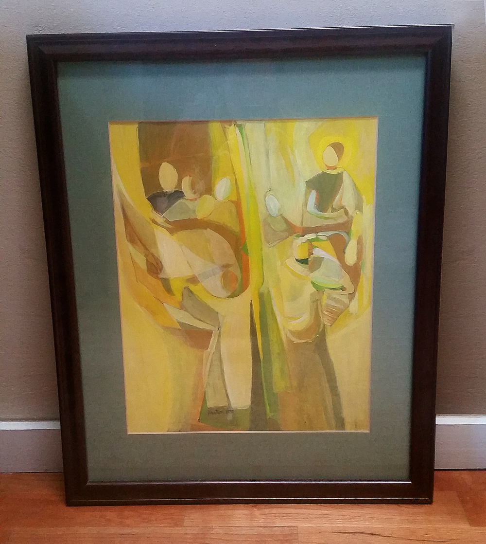 Framed original art by Nancy Phillips