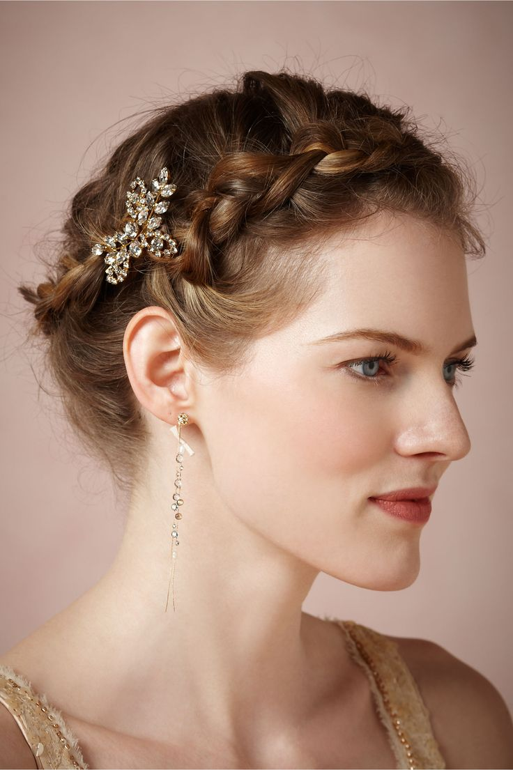 The Primrose Hairpin is subtle and perfect for a garden wedding. And gold!!