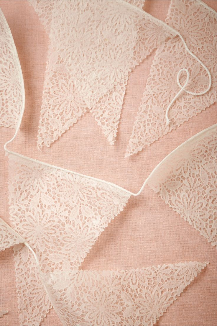 The Lace Pennant Garland brings garland up a notch. It's so delicate and romantic but still sophisticated.