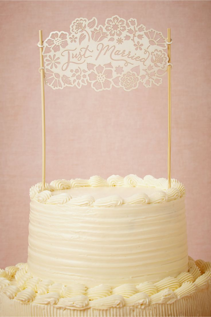 I love the cutout Just Married Cake Topper. It could work with so many different wedding styles!