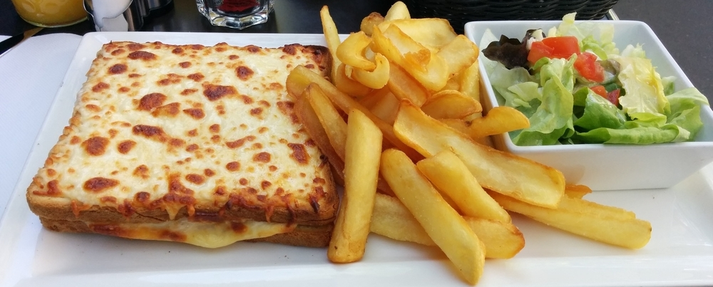 Croque Monsieur purchased at a cafe.