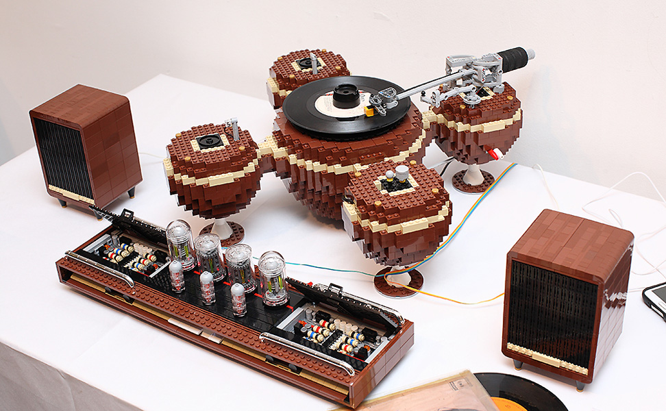 "npr: popmech: This complete LEGO sound system is called ""The Planet,"" and it's the masterwork of Korean designer Hayarobi. The set contains 2,405 pieces and is powered by a LEGO Power Functions Battery Box and a LEGO Power Functions M-Motor. Those are some serious LEGO skills. -Tajha"