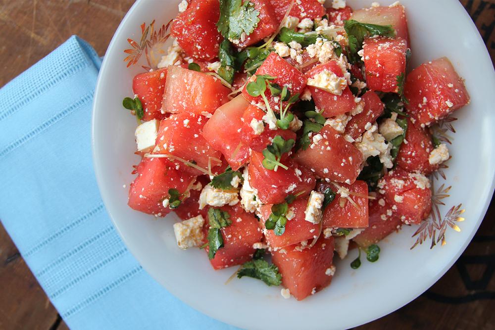 foodopia: Watermelon, Cilantro, and Radish Salad