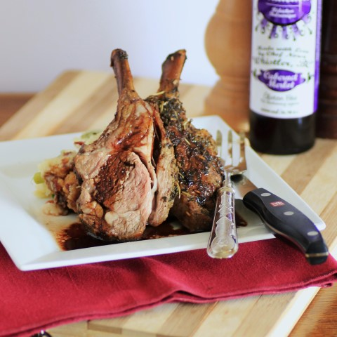 foodopia: smoked rack of lamb: recipe here