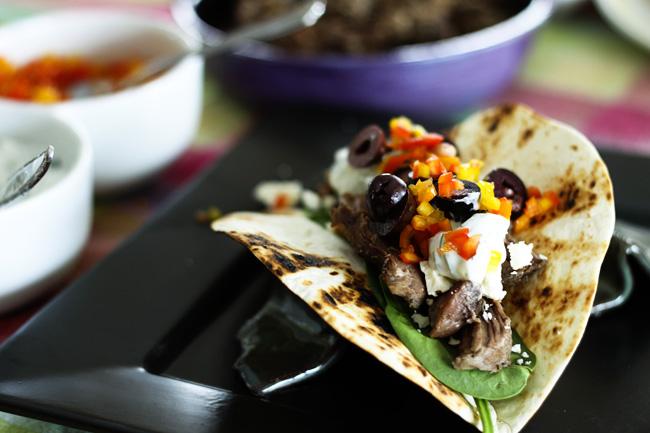 foodopia: garlic lamb greek tacos: recipe here