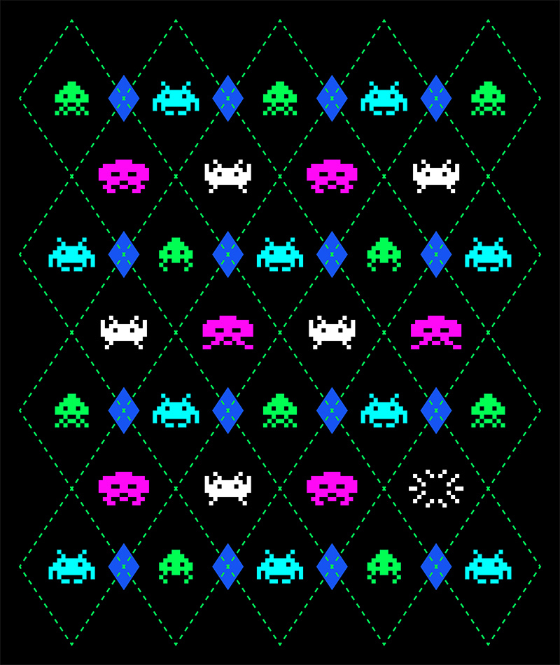 it8bit: Argyle Invaders Created by Carlos Vigil Shop || Facebook || Dribble