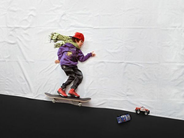 """streetpiracy: Luka, a twelve year old boy with the degenerative disease known as muscular distropy, wished to see himself doing things his physically capabilities would not allow.Slovenia photographer Matej Peljhan granted his wishes in her photo series """"Le Petit Prince."""""""