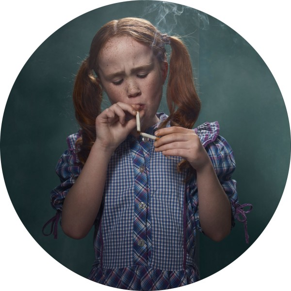 I found this quite interesting and somewhat disturbing. Smoking Kids, by Frieke Janssens