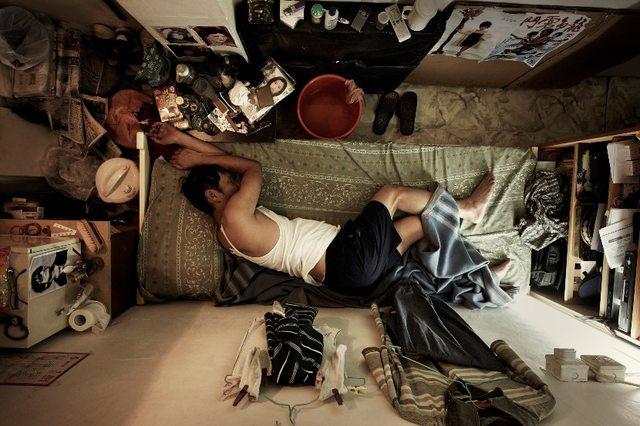 Hong Kong's claustrophobic 'shoebox' apartments.