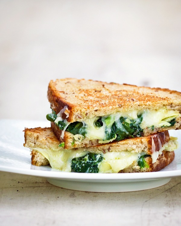 foodopia: spinach artichoke grilled cheese: recipe here