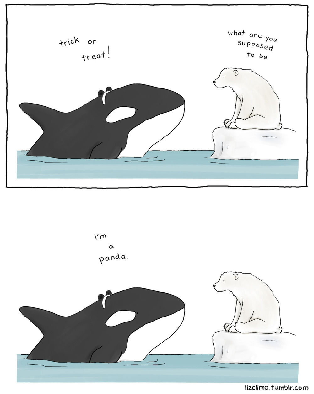 lizclimo: panda whale  exclusive comic for the fluffington post
