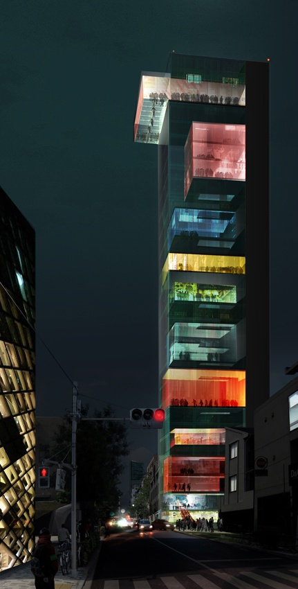 cabbagerose: Vertical Omotesando / Wai Think Tank via: belmortimer