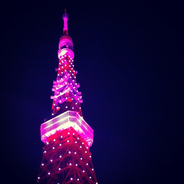 #Tokyo #tower in #pink (Taken with Instagram)