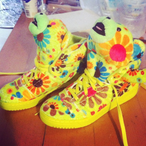 #adidas #jeremy scott #flower #power #sneakers (Taken with Instagram)