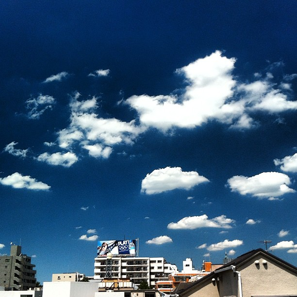 another HOT summer day #summer #cloud #clear #sky (Taken with Instagram)