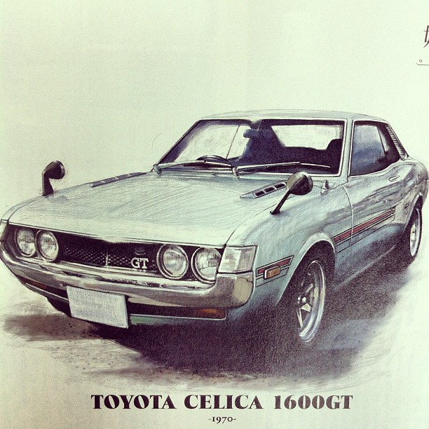 #toyota #celica #gt #car #automobile #illustration #drawing (Taken with Instagram)