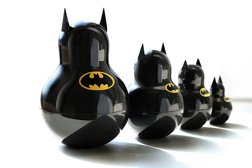 unknowneditors: Batman Russian nesting dolls by graphic designerKatya Malakhova