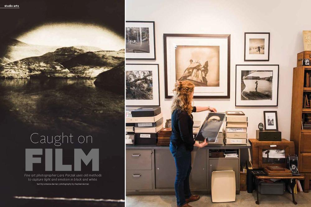 Fine art film photographer Lara Porzak in herCalifornia studio. Photos by Stephen DeVries.