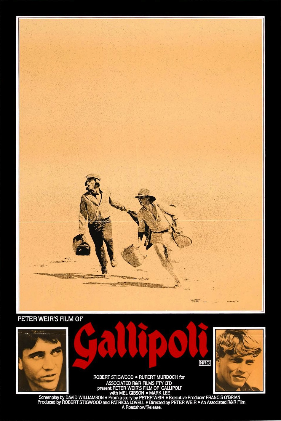 "Google ""Gallipoli"" and the number three result is the  1981 film  starring a young Mel Gibson when his Aussie accent was still strong. The campaign continues to figure prominently in Australian culture, regularly serving as the subject of films and books. Most recently, Russell Crowe starred in   The Water Diviner  , where he played a farmer searching for three missing sons who fought in Gallipoli."