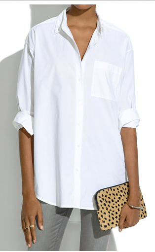 OVERSIZED BUTTON-DOWN SHIRT -- MADEWELL