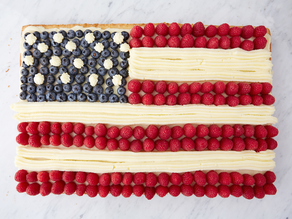 Ina Garten's Flag Cake for All American as seen on Food Network's Barefoot Contessa