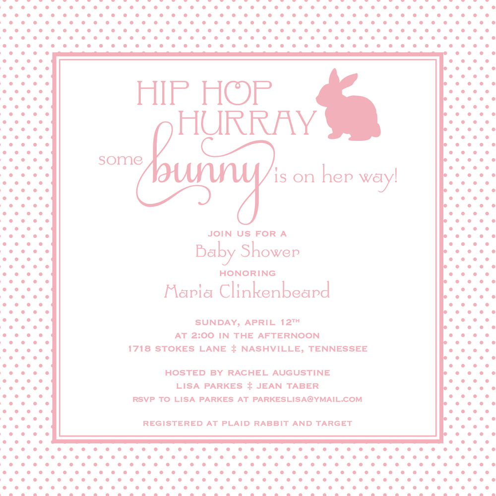 Hip Hop Hurray Baby Shower Invitation