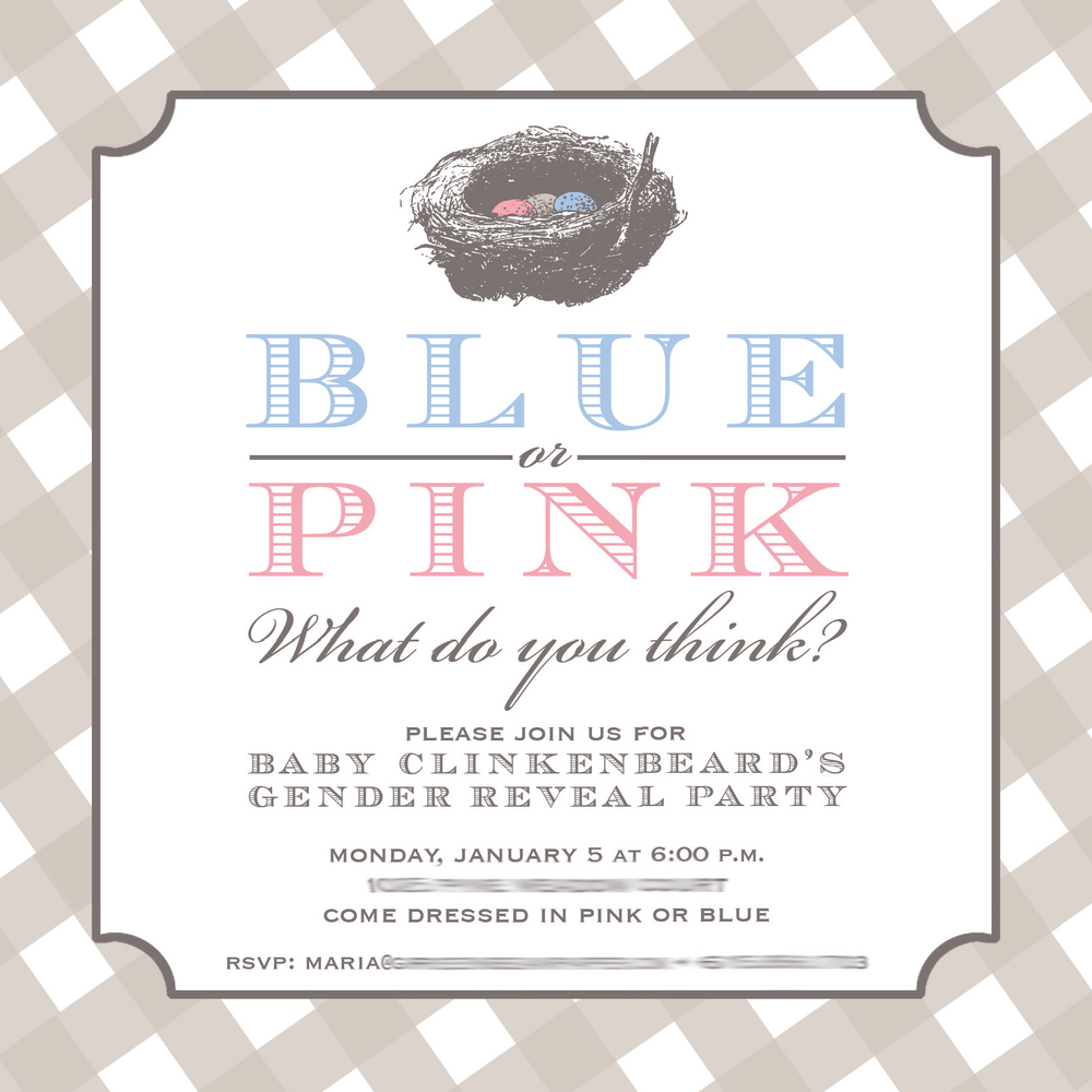 Blue or Pink Nest Egg Gender Reveal