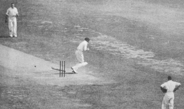 Bill Woodfull struck over the heart by Larwood during the Bodyline Ashes. Woodfull then claimed the high ground for Australia in the moral war unfolding between the two teams.