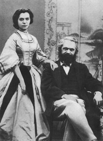 Karl and Jenny Marx.