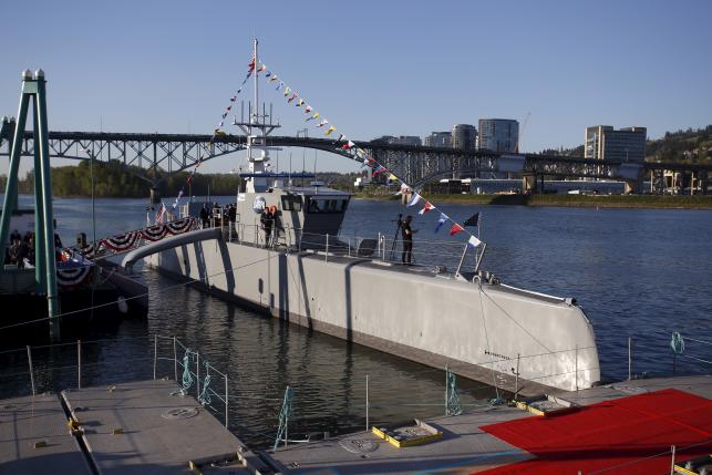 The US Navy's first autonomous unmanned warship.