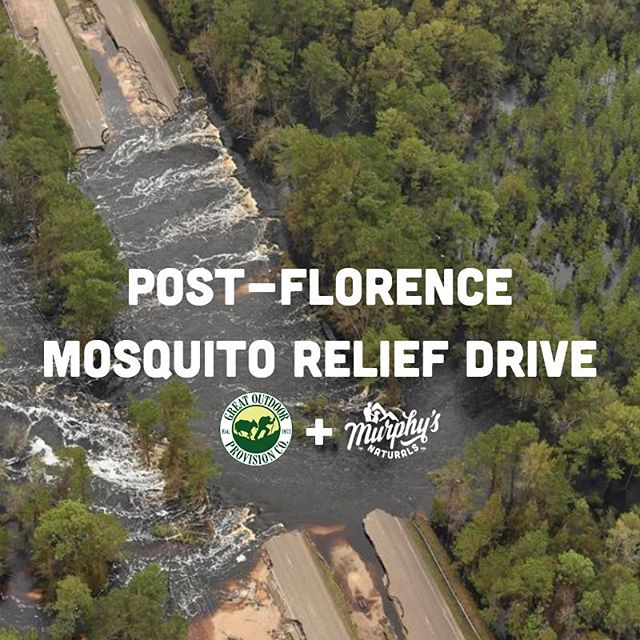 In the wake of #HurricaneFlorence, residents and volunteers have been working tirelessly to get life back to normal in Eastern NC. The floodwaters have populated some of the largest mosquitoes our state has ever seen. We'll be in Wilmington on Friday from 11am-3pm at Great Outdoor Provision Center located off of Oleander Drive, handing out our all natural, DEET-free, Lemon Eucalyptus Oil Repellent Spray to help keep the community protected from these pesky insects and avoid the diseases they can spread. Please Tag anyone in the area who would benefit from this! We'll see you there.