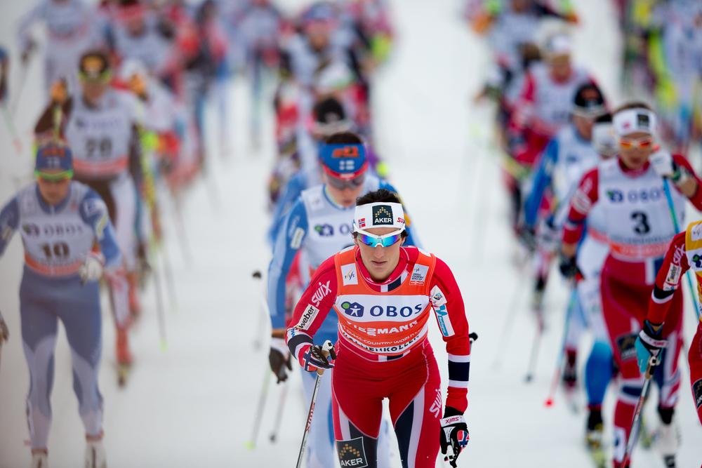 Marit Bjørgen leads the field.
