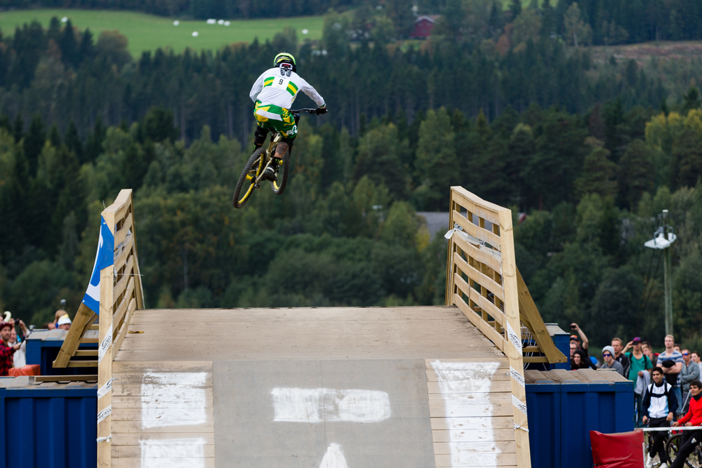 Sam Hill sending it!