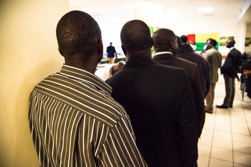 Meeting de soutien à Paulo Gomes, candidat à l'élection pour la présidence de la Guinée-Bissau 2014. Mantes-La-Jolie, 16 Mars 2014.