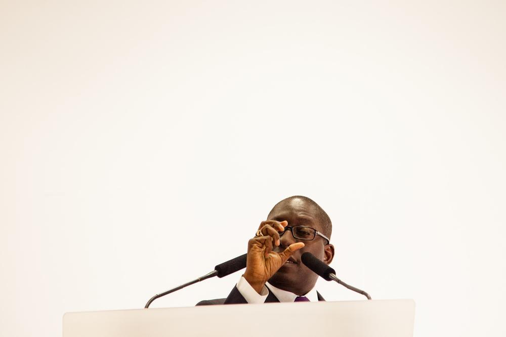 Meeting de Paulo Gomes, candidat à l'élection pour la présidence de la Guinée-Bissau 2014. Paris, Janvier 2014.